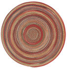 Capel Rugs Portland Wool Casual Country Braided Round Rug Country Red #500