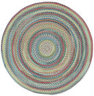 Capel Rugs Portland Wool Casual Country Braided Round Rug Colony Blue #400