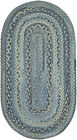 Capel Rugs Harborview Slate Blue Grayed Reversible Country Home Oval Braided Rug