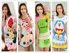 Cartoon Animal Short Sleeve Women's Nightdresses Sleepshirt Sleepwear Nightshirt
