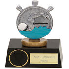 SWIMMER SWIMMING SILVER OR GOLD TROPHY TIMER 2 SIZES AVAILABLE ENGRAVED FREE