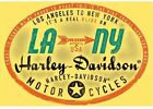 HARLEY-DAVIDSO​N® H-D® LA to NY Metal Die-Cut Tin Embossed Sign Motorcycle 015