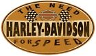 HARLEY-DAVIDSO​N® H-D® NEED FOR SPEED Metal Die-Cut Embossed Sign Motorcycle 017