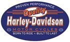 HARLEY-DAVIDSO​N® H-D® QUALITY PROVEN Metal Die-Cut Embossed Sign Motorcycle 019
