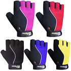 Leather Cycling Gloves Padded Fingerless Cycling / Cycle Mitts Gloves Towel Back