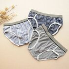 3PCS Men's 100% Silk Briefs Underwear Bikinis Solid Size:L XL XXL Multi-Color