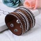 New Alloy Leather Flannelette With Diamond Charm Bracele For Woman anniversarTO