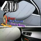 White 4D GLOSS Fiber Vinyl Film Wrap Sheet With Air Release Bubble Free