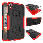 HTC Desire 828 Dual Layer Shockproof Cover Hybrid Rugged Case w/ Kickstand