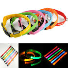 New Safety Night Light Circular LED Pendant Puppy Pet Dog Keychain Tags 6 Colors