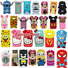 3D Cartoon Soft Silicone Phone Back Case Cover Skins for Samsung Galaxy Phones