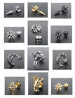 Funky Stainless Steel Screw Back Single Earring 10 Designs Men Women Fashion