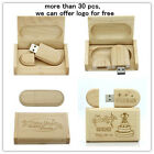 16GB Custom Engraved LOGO Wooden usb 2.0 memory stick pen drive + wooden box