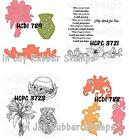 Heartfelt Creations Cut & Emboss Dies Stamps SUNRISE LILY SWIRLS, BOUQUET WISHES