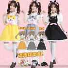 Game Neko Atsume Sweet Lolita Cat Fancy Dress Suspender Skirt Maid Outfit Dress