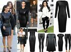 Ladies Kim Wet Look Midi Womens Faux Leather Stretch Bodycon Dress Legging 8-26