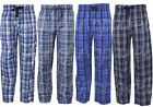 Mens Woven Lounge Pants Pyjamas with Pockets Bottoms Trousers Night Wear