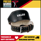 "VALEO 6"" LEATHER LIFTING BELT X LARGE BODYBUILDING WEIGHT BODY BUILDING COW HIDE image"
