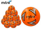10x NEW 2017 MITRE IMPEL WHITE/BLUE TRAINING FOOTBALL + MESH BAG (32 PANEL BALL)