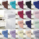 Plain Dyed Duvet Cover With Pillow Cases,Quilt Cover Bedding Set All Uk Size
