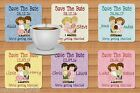 SAVE THE DATE FLEXIBLE DRINKS COASTER PERSONALISED FREE OF CHARGE
