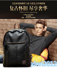 Men's Vintage Canvas Leather Backpack Rucksack Laptop Satchel School Bag