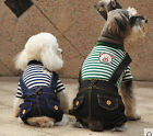 Spring Summer Dog Pet Vest Dog Clothes Coats Clothing Wear Jean Style T-Shirt