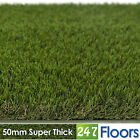 Artificial Grass, Quality Astro Turf, Cheap, Realistic Natural 50mm Super Thick