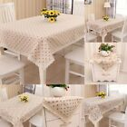 Wipe Clean Daisy Tablecloth Cotton Linen Dining Kitchen Table Cover Protector