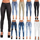 NEW SEXY WOMEN CELEB STYLE BIKER LOOK STRETCHY JEANS PANTS SIZE 6 8 10 12 14 16