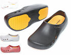 STICO Non-Slip Mens Shoes Chef Clogs Water Oil Safety Hospital Kitchen Comfort