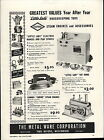 1949 Paper AD Metal Ware Little Lady Toy Electric Range Stove Empire Steam Engin
