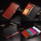 Retro PU Leather Photo Wallet Flip Stand Holder Phone Case Cover For HTC Phones