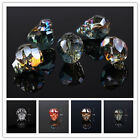 Beautiful 5pcs 20mm Skull Beads Exquisite Glass Crystal Charms Spacer Loose