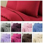 Classic Plain Fitted Flat with Pillow case Sheet Set with 100% free delivery