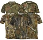 Mens Jungle Print Camouflage Army Combat Short Sleeve T Shirt Fishing Hunt S-5XL