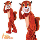 Adult Big Head Squirrel Costume Chipmunk Animal Mascot Fancy Dress Outfit New