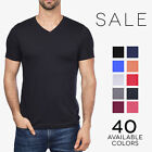 Bella + Canvas Jersey V-Neck T-Shirt Premium Fit Soft Basic Plain Tee 3005