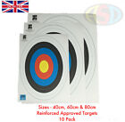 10 X Pro F.I.T.A Archery Target Faces Suitable For Bows & Crossbows Heavy Gauge
