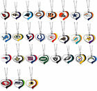 glitter heart necklace swirl charm NFL Pick your team $7.45 USD on eBay