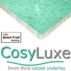 CARPET UNDERLAY CosyLuxe 8mm thick for all areas around the home inc. stairs