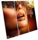 Fashion Makeup Beauty Salon TREBLE CANVAS WALL ART Square Print Picture