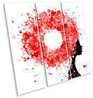 Hairdressers Fashion Hairstyle Hearts TREBLE CANVAS WALL ART Square Picture Prin