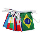 New World Flag String Flag 25m Long with 100 Flags Bunting for 2016 Rio Olympics