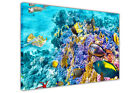 Underwater Sea Life Tropical Reef Framed Canvas Wall Art Prints Animal Pictures
