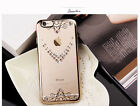 Luxury Diamond Bumper Rubber Soft TPU Clear Back Case Cover For iPhone 6 6s Plus