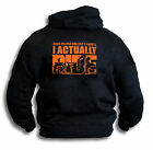 Biker mc Some People Collect I Actually Ride Mens Hoodie Top Rear Print  Sm 2XL