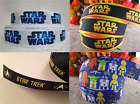 "1m STAR WARS / STAR TREK RIBBON 3/8""- 7/8"" HAIR BOW CAKE RIBBON GROSGRAIN RIBBON"