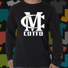 Miguel Junito Cotto Boxing Champion Logo Long Sleeve Black T-Shirt Size S to 3XL