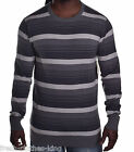 Quiksilver Men's Classic Grey Stripe Pull Over Sweater Choose Size